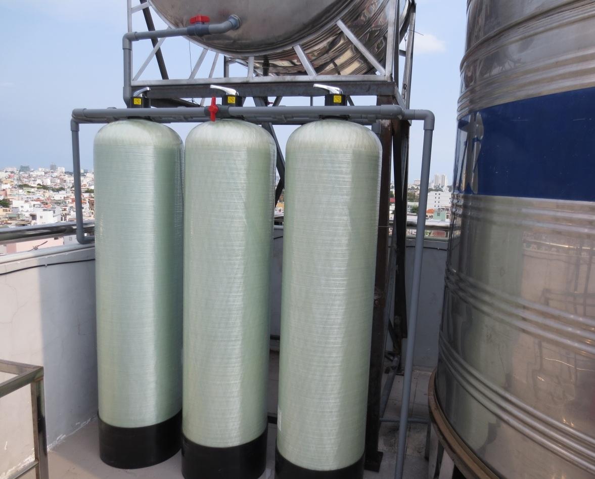 Bình lọc nước composit ba bước lọc tiện dụng cho mọi nhà