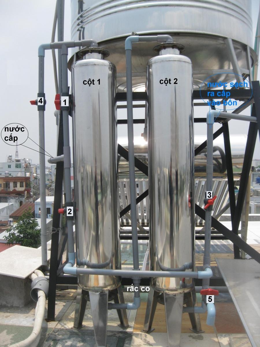 Cột lọc nước PVC chất lượng, lọc nước phèn tốt nhất