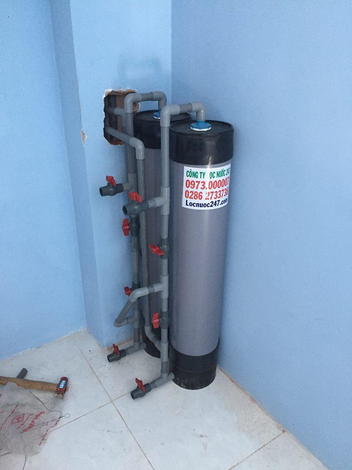 bộ lọc nước 2 bình nhựa lọc sạch phèn kim loại nặng