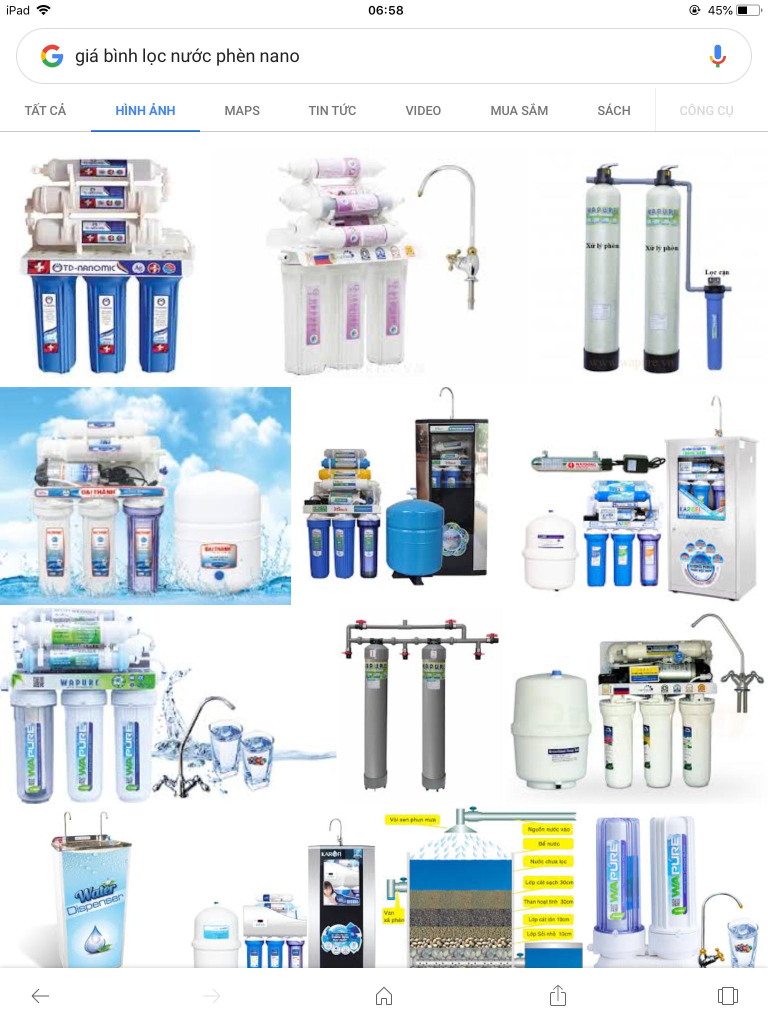 Bộ lọc nước nano tiện dụng cho gia đình