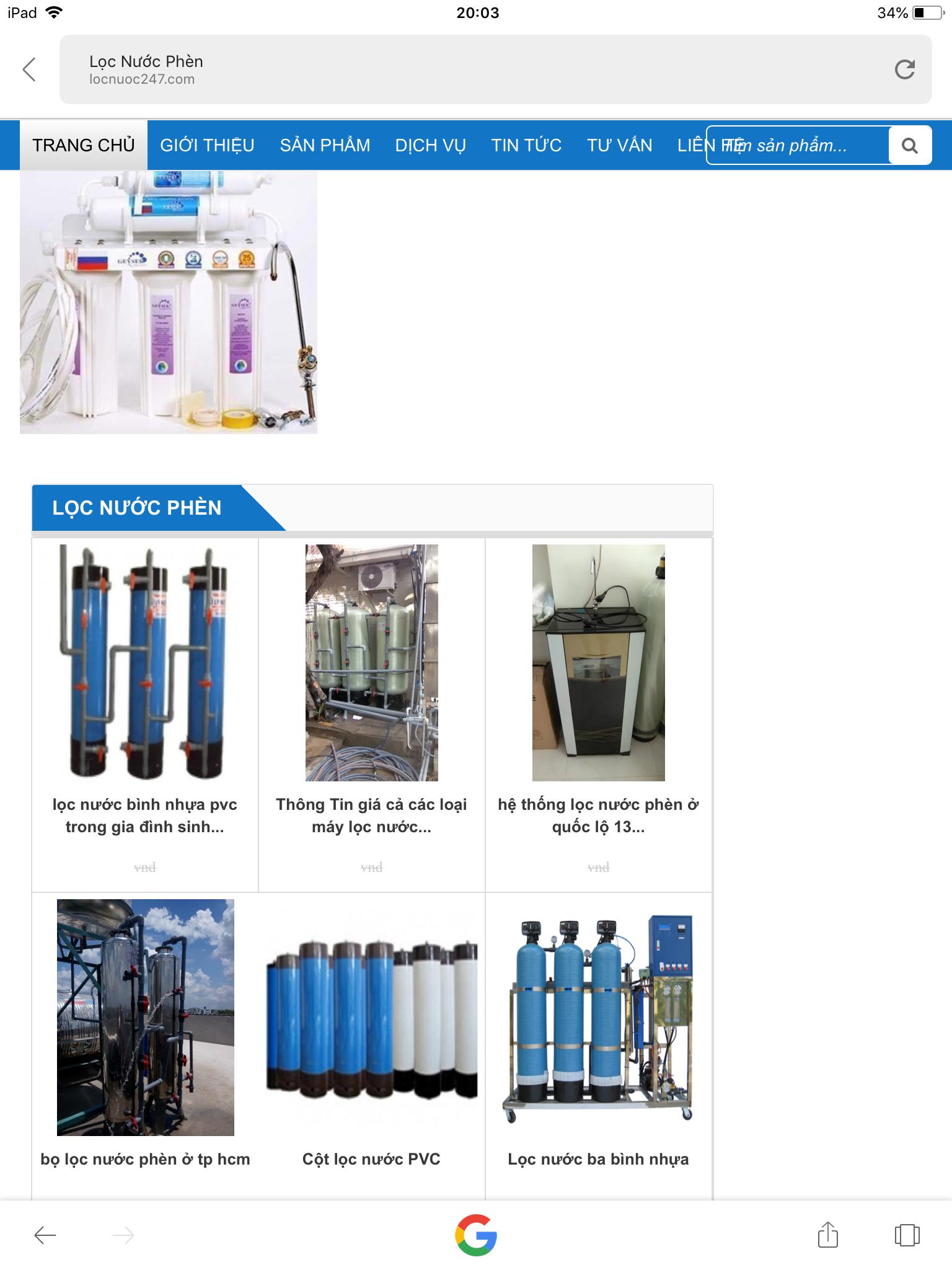 Khảo sát lắp đặt máy lọc nước phèn giếng khoan gia đình