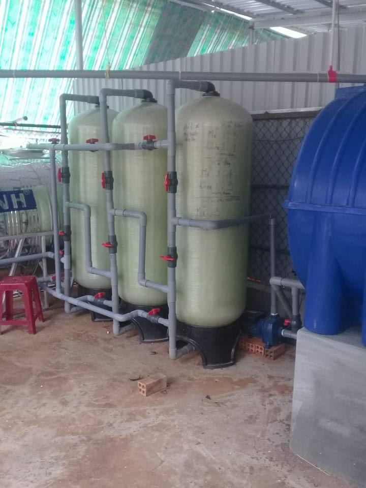 khử sắt, khử màu,khử mùi cho nước giếng bị nhiễm phèn