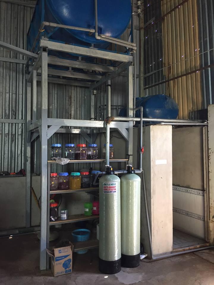 lọc thô đầu nguồn cho công suất 2000 lít/h nước sinh hoạt sạch phèn