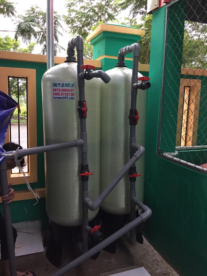 quả lọc nước đầu nguồn trước khi qua máy lọc nước uống trong nhà bếp