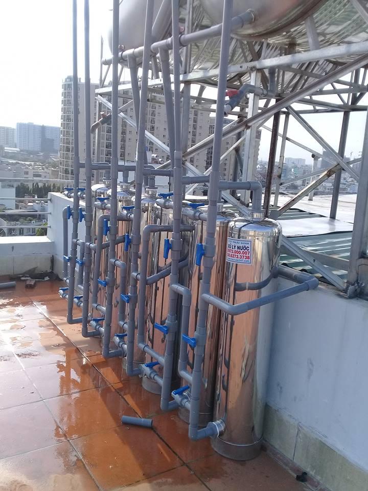 xử lý nước giếng khoan khách sạn nhà trọ tại tân bình