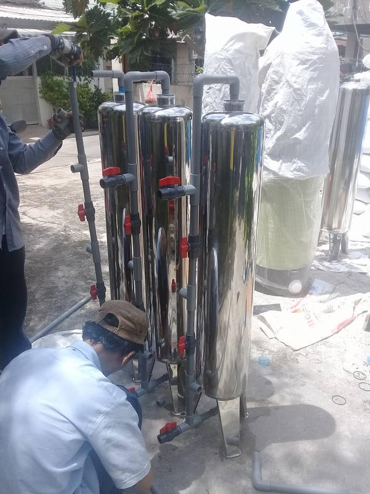 bình xử lý nước nhiễm phèn giếng khoan gia đình giá rẻ