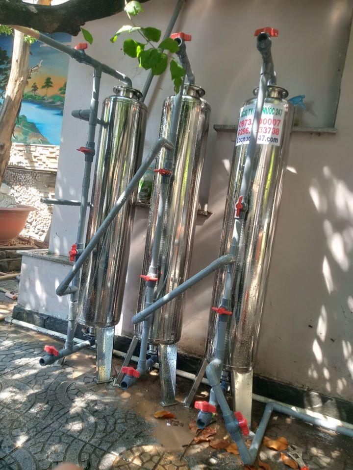 đây là bộ lọc nước phèn giếng khoan gia đình 3 cột lọc tốt