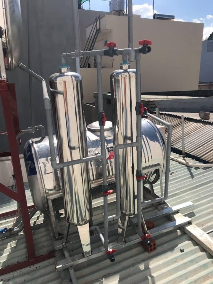 lọc phèn công nghiệp là bộ lọc lớn xử lý các kim loại nặng phèn tạp chất độc hại