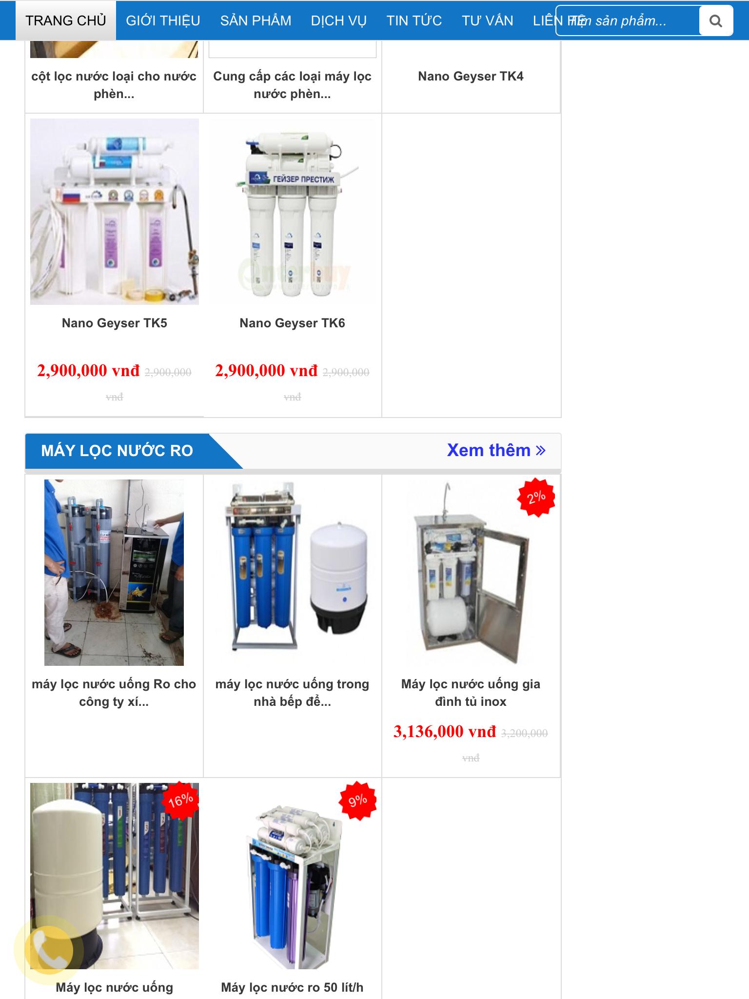 Máy lọc nước uống sinh hoạt lọc sạch phèn và các mùi tanh hôi